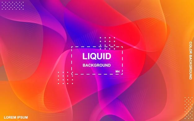 Diseño de fondo de color líquido