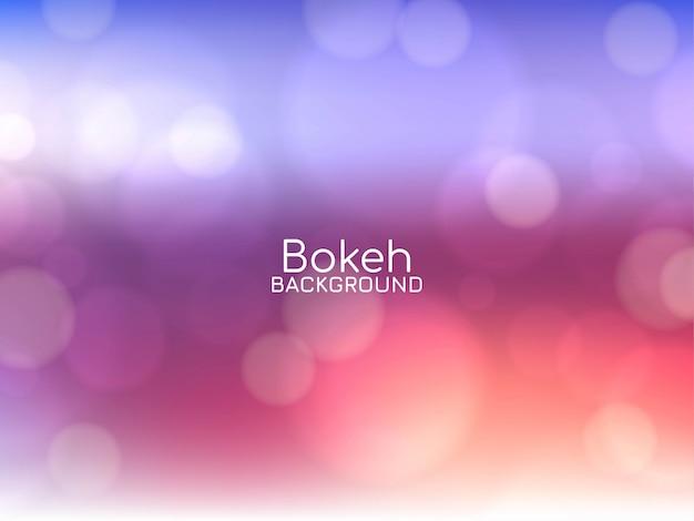 Diseño de fondo colorido bokeh moderno