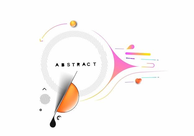 Diseño y fondo coloridos abstractos del modelo. uso para diseño moderno, portada, póster, plantilla, folleto, decorado, volante, pancarta.