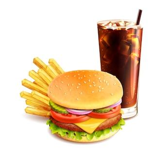 Diseño de fondo de comida rápida