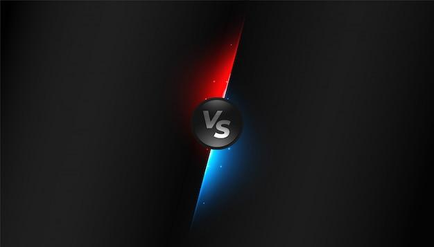 Diseño de fondo de competencia negro versus vs pantalla