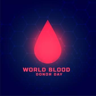 Diseño de fondo del concepto del día mundial del donante de sangre
