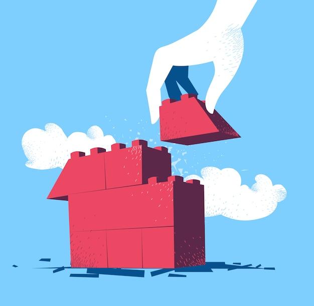 Diseño de fondo de construcción de una casa