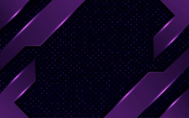 Diseño de fondo de contracción púrpura oscuro abstracto moderno con puntos y líneas