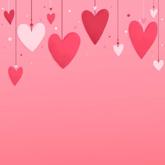 Diseño de fondo del corazón