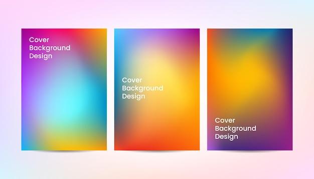 Diseño de fondo de cubierta de color degradado abstracto dinámico.