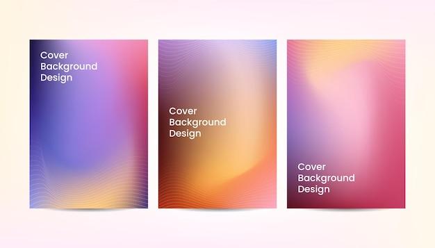 Diseño de fondo de cubierta colorida degradado abstracto dinámico.
