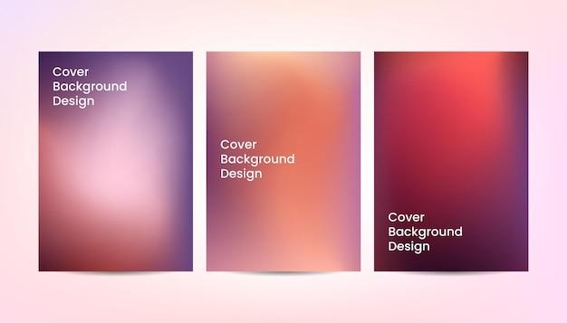 Diseño de fondo de cubierta degradado abstracto colorido vector.