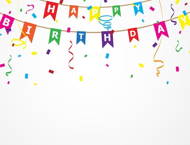 Diseño de fondo de cumpleaños ilustraciones de vectores