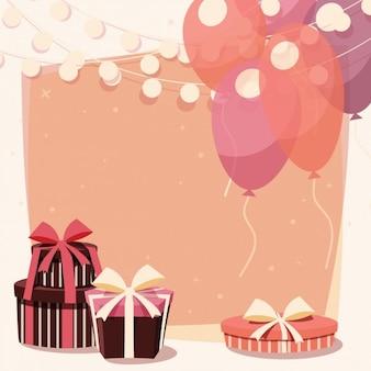 Diseño de fondo de cumpleaños