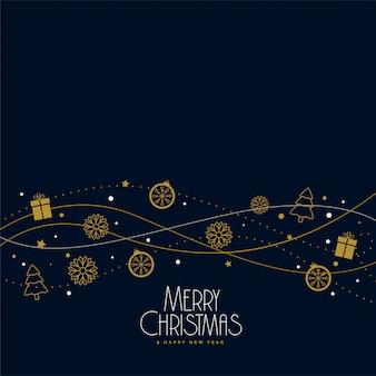 Diseño de fondo de la decoración de elementos de navidad