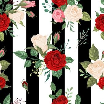 Diseño de fondo de decoración floral