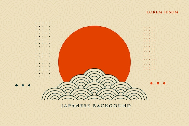 Diseño de fondo decorativo asiático de estilo japonés