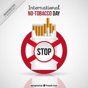 Diseño de fondo del día contra el tabaco