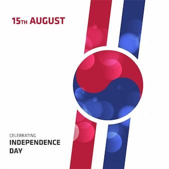 Diseño de fondo del día de la independencia de korea