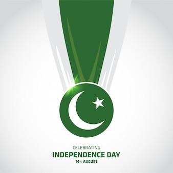 Diseño de fondo del día de la independencia de pakistán