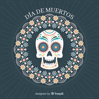 Diseño de fondo del día de muertos