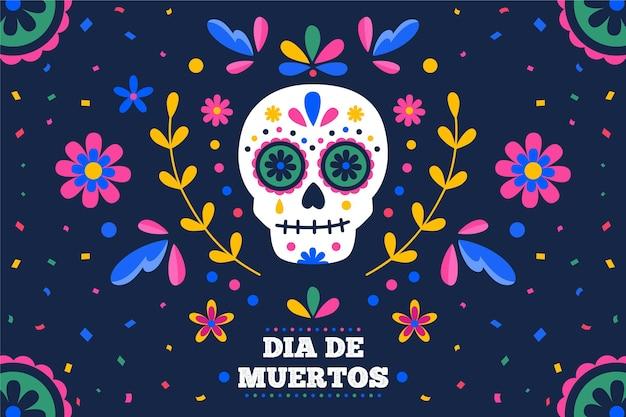 Diseño de fondo del día de los muertos
