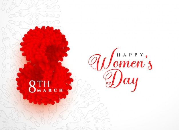Diseño del fondo del día de las mujeres felices creativas