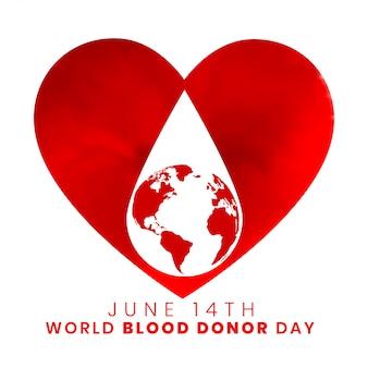 Diseño de fondo del día mundial del donante de sangre del 14 de junio