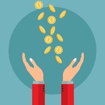 Diseño de fondo de dinero