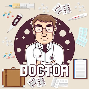 Diseño de fondo de doctor
