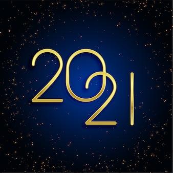 Diseño de fondo dorado brillo feliz año nuevo 2021