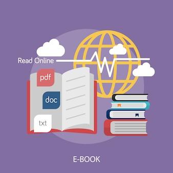 Diseño de fondo de e-book