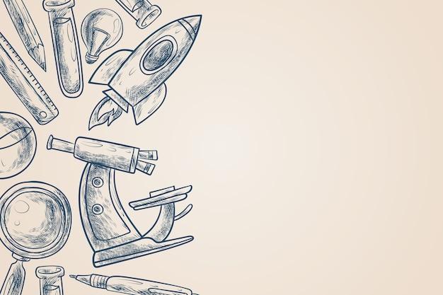 Diseño de fondo de educación científica vintage