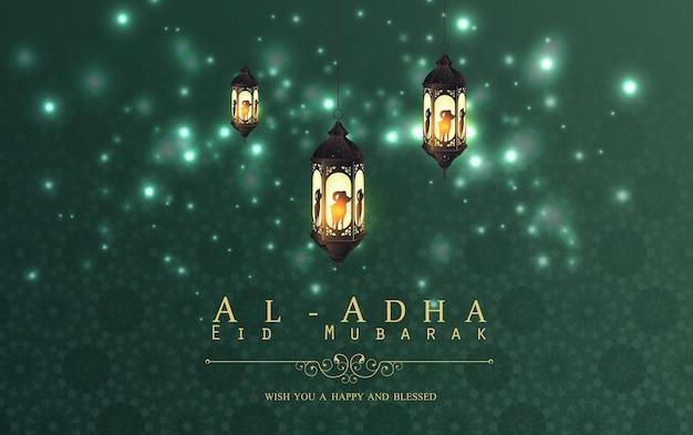 Diseño de fondo de eid al adha