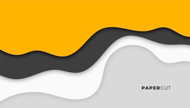 Diseño de fondo elegante estilo papercut abstracto moderno