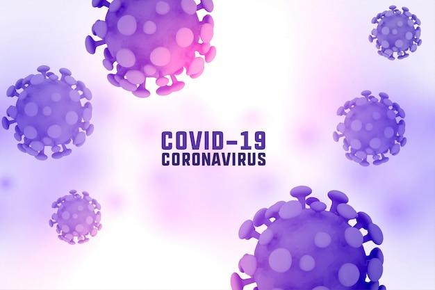 Diseño de fondo de la enfermedad de propagación del coronavirus 3d covid-19