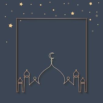 Diseño de fondo enmarcado ramadán