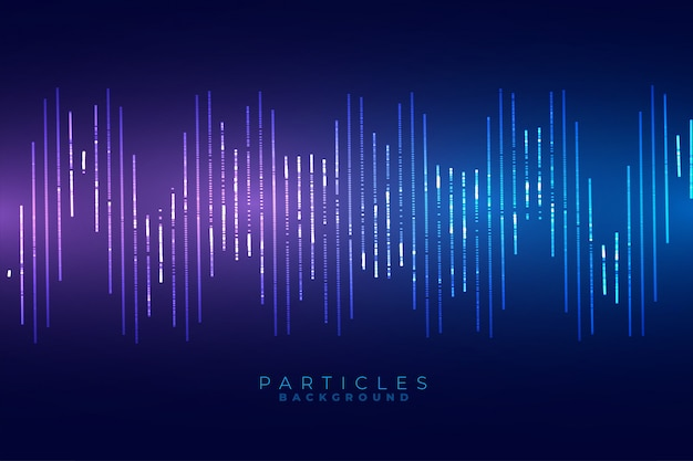 Diseño de fondo de estilo de tecnología de forma de onda de sonido azul