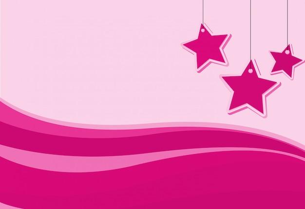 Diseño de fondo con estrellas rosas