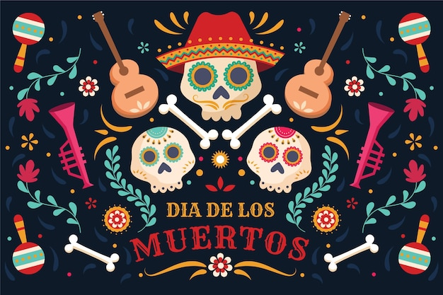 Diseño de fondo del evento del día de los muertos