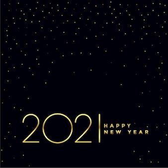 Diseño de fondo de feliz año nuevo negro y dorado 2021