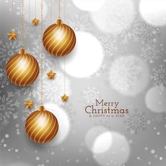 Diseño de fondo de festival de feliz navidad brillante brillante