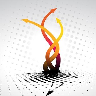 Diseño de fondo de flechas abstractas