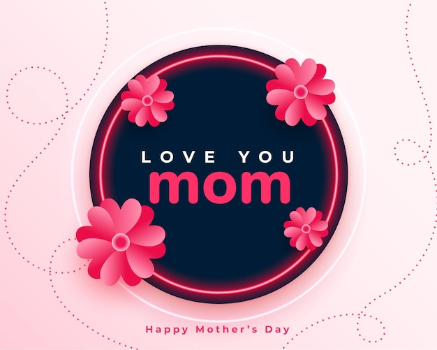Diseño de fondo de flor de feliz día de la madre