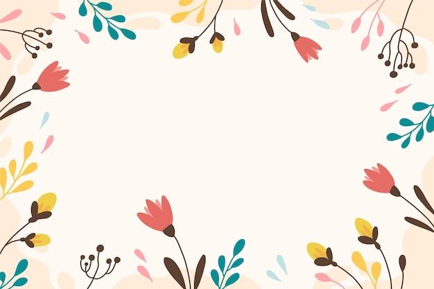 Diseño de fondo floral colorido