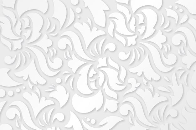 Diseño de fondo de flores ornamentales
