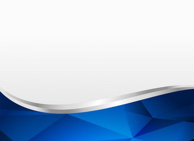 Diseño de fondo de forma ondulada azul