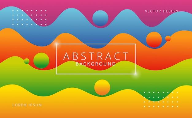 Diseño de fondo de formas onduladas gradiente colorido