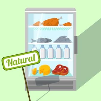 Diseño de fondo de frigorífico