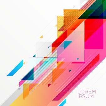 Diseño de fondo geométrico abstracto colorido creativo