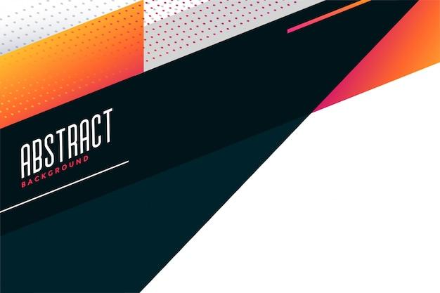 Diseño de fondo geométrico con estilo abstracto