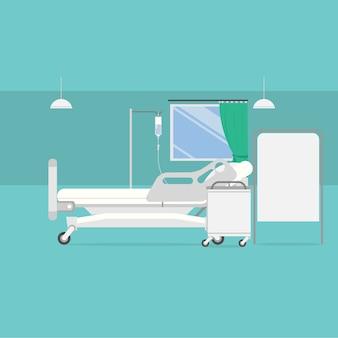 Diseño de fondo de habitación de hospital