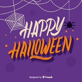 Diseño de fondo de halloween con lettering
