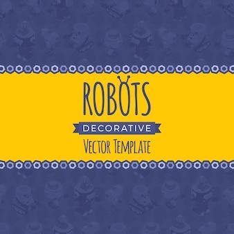 Diseño de fondo hecho de robots
